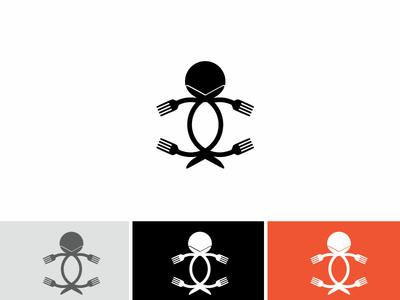 Angry  Restaurant Robot  Logo