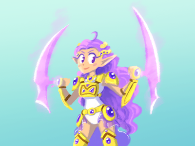 Pretty Warrior warrior girl cartoon illustration