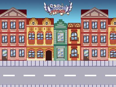 Tenement Buildings Poogeon Attack mobile game concept art pixel art pixel
