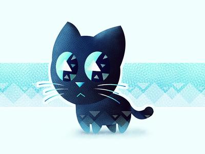 Blue Cat cute art cute cat cartoon cartoon illustration illustration