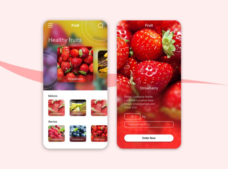 fruits Order App ui design ui design mobileui uidesign mobile app design app design uiuxdesign mobile ui uiux