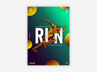 001. Run composition typography type graphique graphic design design art poster art poster design poster