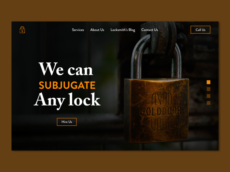 Lock service web concept branding orange locksmith web desgin web design service landing page service page b2b concept website web design web banner user interface ui ux