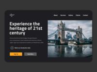 Saas travel app web design concept