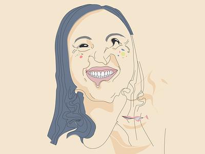 #2 vector self portrait illustrator portrait illustration asian girl illustration