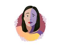 Portrait #3 emotion unimpressed asian portrait illustration self portrait asian girl illustration