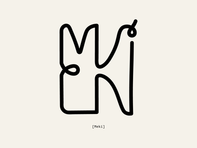 Meki georgian logo design vector type design type art typedesign type illustrator