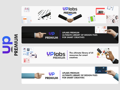 Uplabs Premium Ads Banner mobile adobe xd graphicdesign hand black  white premium banner ads uplabs