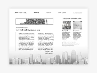 Daily UI - NEWSmagazine