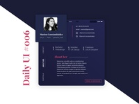 Daily UI #006 - User Profil