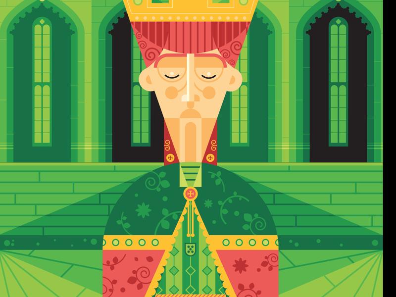 Dom Duarte I portugal character creation character poster vector art vector adobe illustrator illustration