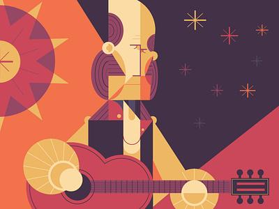 Paco de Lucia guitarist flamenco paco character geometric art geometric vector vector art adobe illustrator illustration