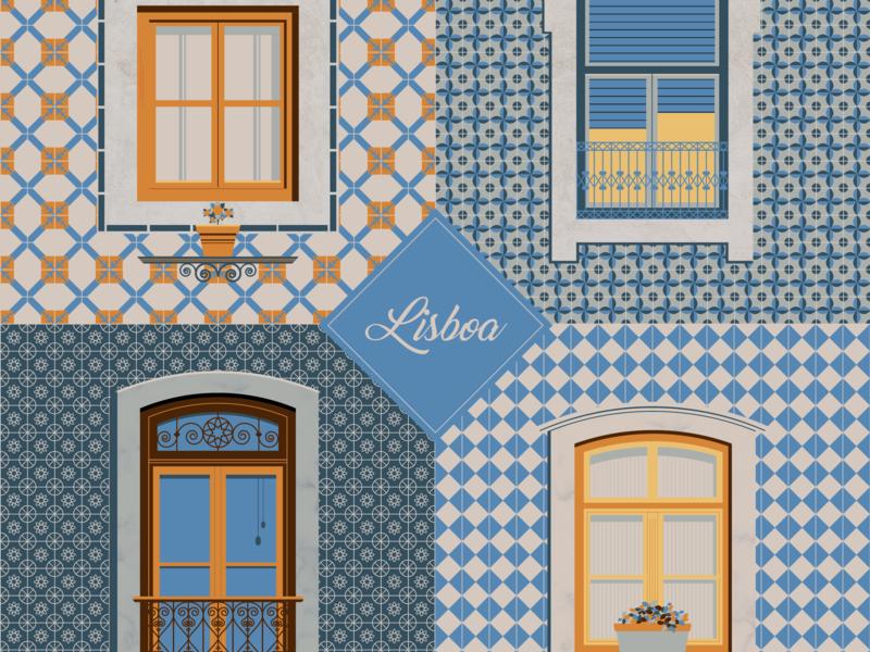 Janelas de Lisboa (Lisbon's windows) adobe illustrator illustration vector art