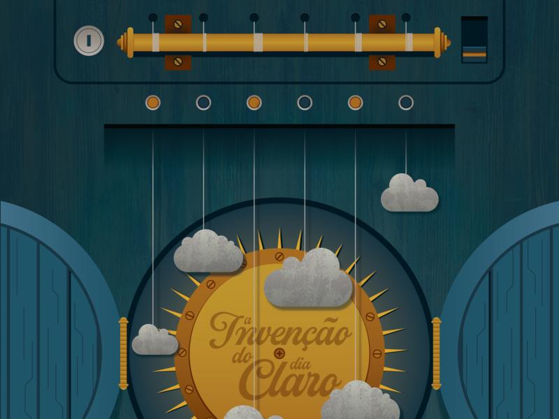 """A invenção do dia claro"" poster art poster illustration vector art vector adobe illustrator"