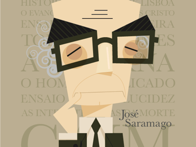 José Saramago vector art illustration vector illustrator