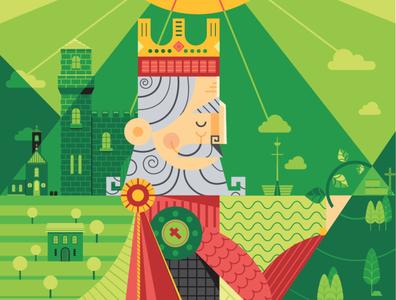 Dom Dinis portugal kings vector vector art adobe illustrator illustration