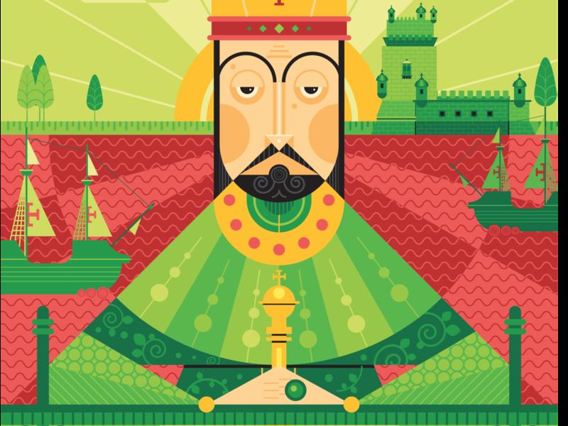 Dom Manuel I character character creation portugal vector vector art adobe illustrator illustration