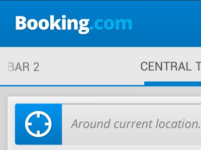 Booking.com ui design concept