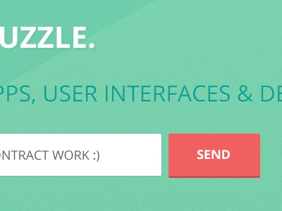 Uzzle Search Field web design ui design splash landing page simple text field button clean