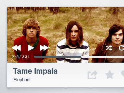 Mini Music Player tame impala ui ui design user interface music player widget psd