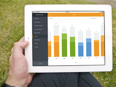 iPad Reports ui user interface graph info simple ipad