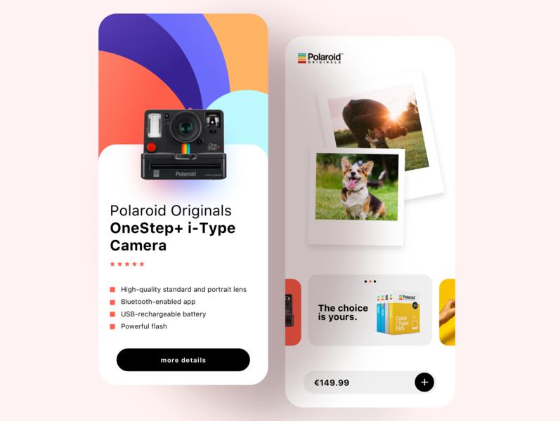 Polaroid App photography photo interface digitalmarketing camera creative iphone android ios socialmedia ui ux polaroidapp website design branding marketing polaroid app graphicdesign design