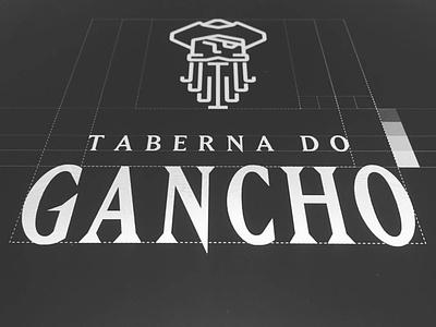 Gancho's Tavern logo illustrator identity lettering type branding icon illustration typography design vector logo