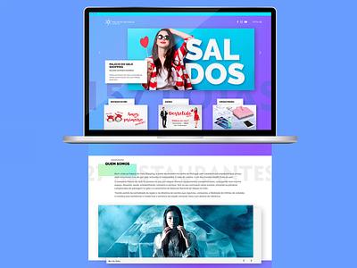 Palácio do gelo website landing page layout web  design ux ui