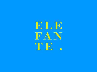 Elefante theatre | visual identity vector lettering typography type logo illustrator illustration identity design branding