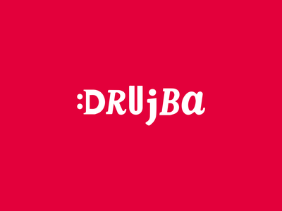 Drujba logo vector lettering typography type logo illustrator illustration identity design branding
