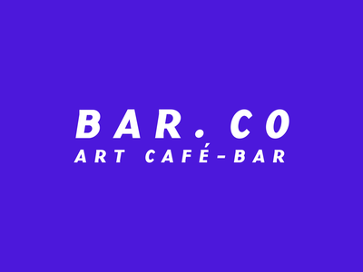 Bar.Co vector lettering typography type logo illustrator illustration identity design branding