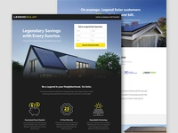 Legend Solar Landing Page