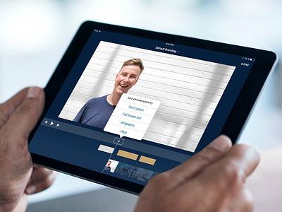 Video Enhancements on iPad video editing product design ux design ipad ios