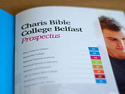 Charis Bible College Belfast Prospectus print bible college prospectus table of contents blue