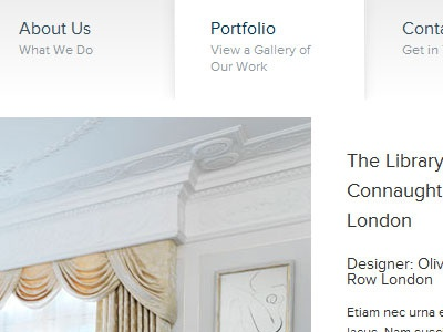 3 Interiors Portfolio proxima nova white elegant