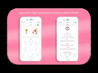 Alternative, light design of app debut design on iPhone