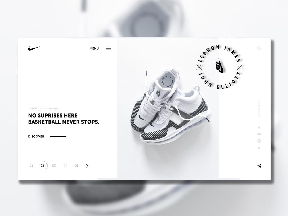 Nike x John Elliot nike webdeisgn design ux ui