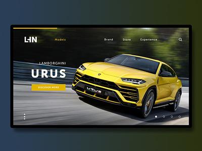 Lambo Urus lamborghini webdeisgn design ux ui