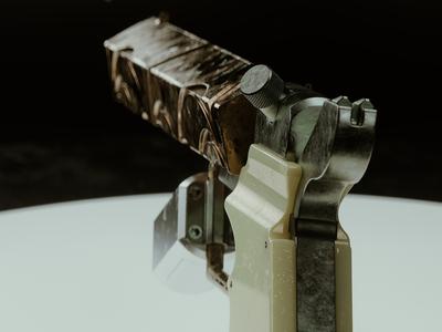 Prospect Ezra's Pistol: II redshift3d photoshop maxon hard surface modeling fusion 360 digitalart designinspiration design cinema4d c4d autodesk after effects adobe 3d