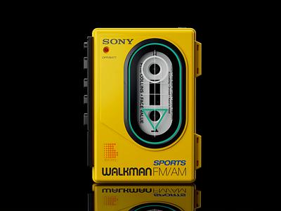 Sony Sports Walkman WM-F35: I hdr light studio chaos group v-ray vray photoshop hard surface modeling fusion 360 digitalart designinspiration design autodesk after effects adobe 3d