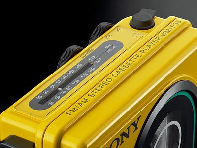 Sony Sports Walkman WM F35: IV hdr light studio chaos group v-ray vray photoshop hard surface modeling fusion 360 digitalart designinspiration design autodesk after effects adobe 3d