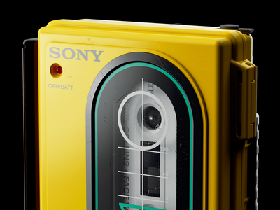 Sony Sports Walkman WM F35: V hdr light studio chaos group v-ray vray photoshop hard surface modeling fusion 360 digitalart designinspiration design autodesk after effects adobe 3d