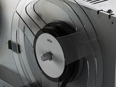 Braun TG 60: III chaos group v-ray vray photoshop hard surface modeling fusion 360 digitalart designinspiration design autodesk after effects adobe 3d