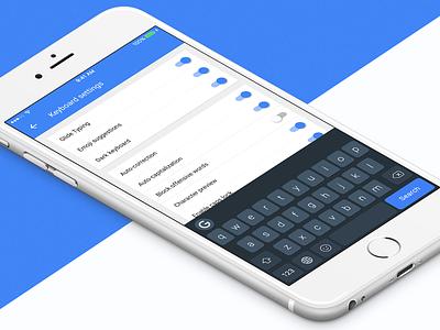 Gboard - Dark Material mockup interface ios iphone ui material google app flat design gboard