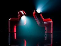 Tatu Lamp: Red