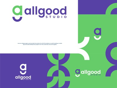 All Good typography ux ui branding illustration logo creative fiverr.com fiverrgigs minimalist