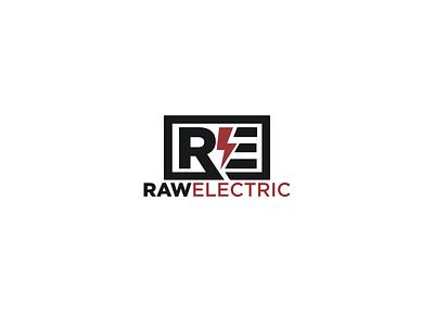 RawElectric creative brand logo designers fiverrgigs fiverr.com fiverr graphic  design minimalist design minimal logo designer logo flat