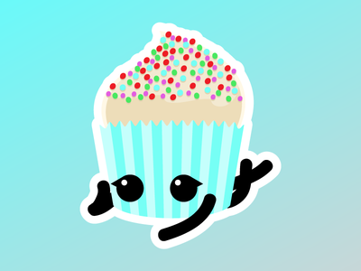 Lazy Day Cupcake Friend vector birthday cute cupcake