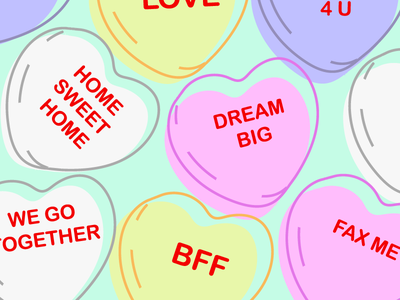 Conversation Hearts home realtors friendship love february valentine heart conversation heart