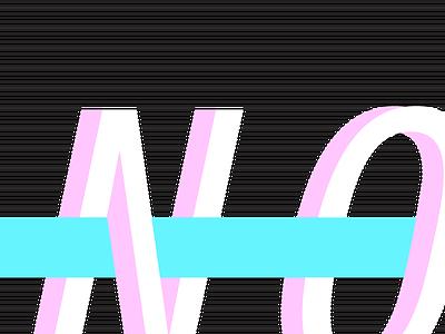 No, Nope, Nah blue pink 80s inspired branding logo nah nope no
